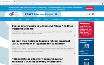 EESZT működésével kapcsolatos információk a MedMaxban